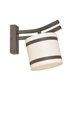 Wandlampe Stoffschirm Beige Braun wohnlich BREZZA
