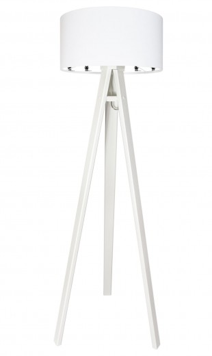 Stehlampe MINA Weiß Katzen Retro 140cm Wohnzimmer