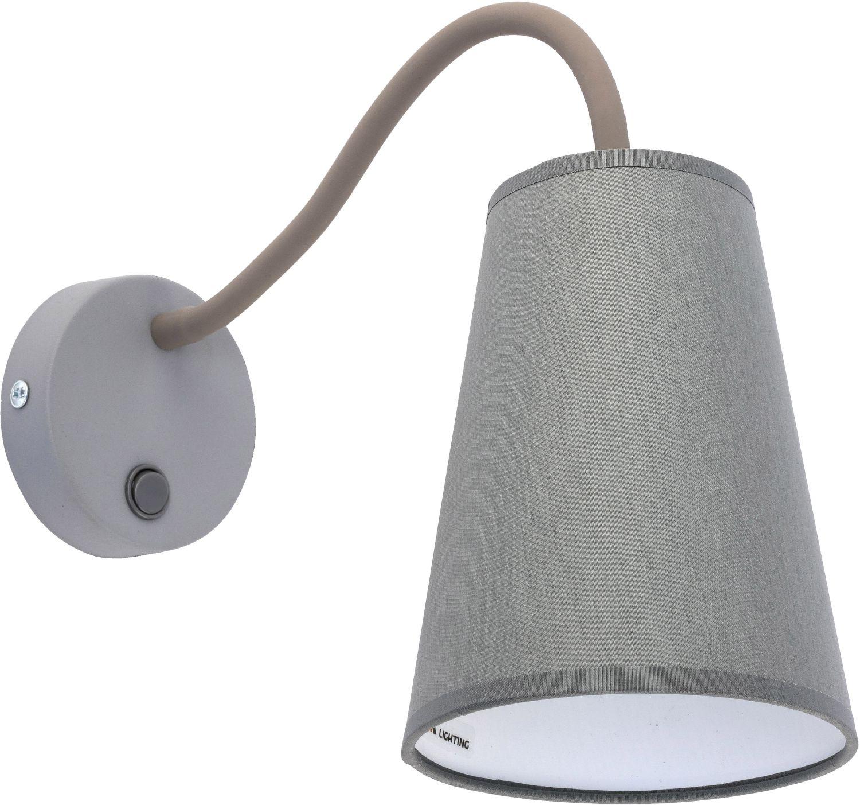 Wandlampe BANTA Grau mit Schalter & flexiblem Arm
