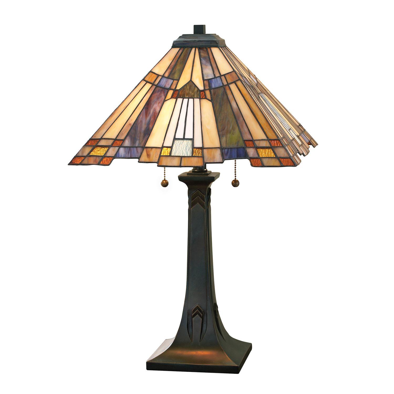 Tiffany Tischleuchte Zugschalter H:64cm Lampe