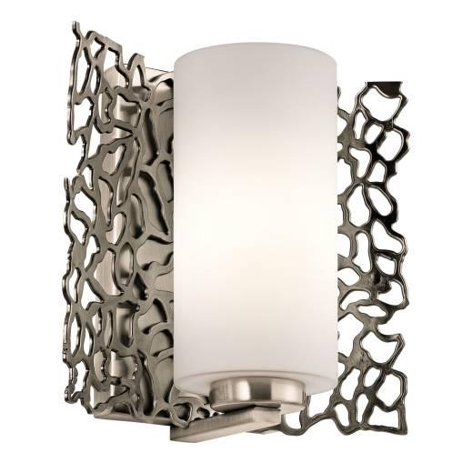 Wandlampe RINA in Zinn Weiß B:19cm Modern Lampe
