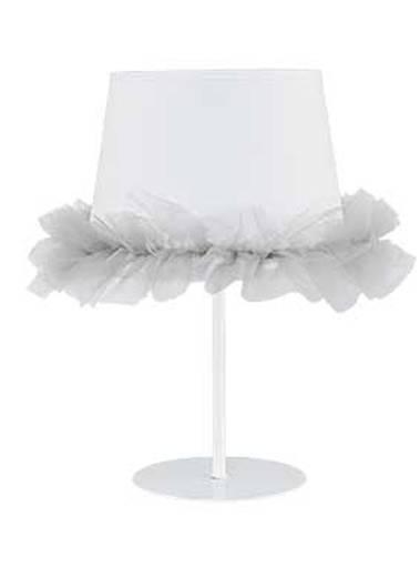 Kleine Tischlampe Weiß Grau Kinderzimmer Kinder