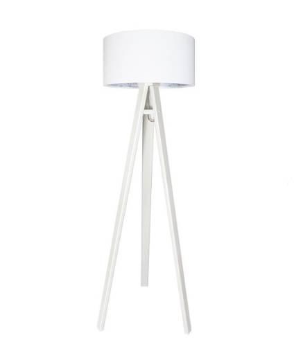 Stehlampe KIRA Weiß Blau Retro 140cm Wohnzimmer