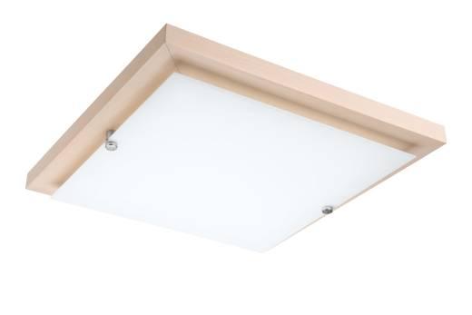 LED Deckenleuchte Weiß Holz quadratisch Wohnzimmer