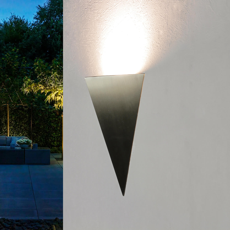 Edelstahl Außenwandleuchte Dreieck LED