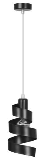 Designer Hängelampe Schwarz Metall verstellbar E27