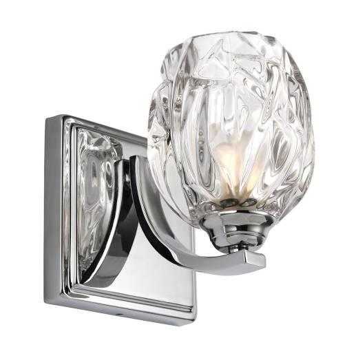 Elegante Badleuchte BOGAR Glas Schirm IP44 mit LED