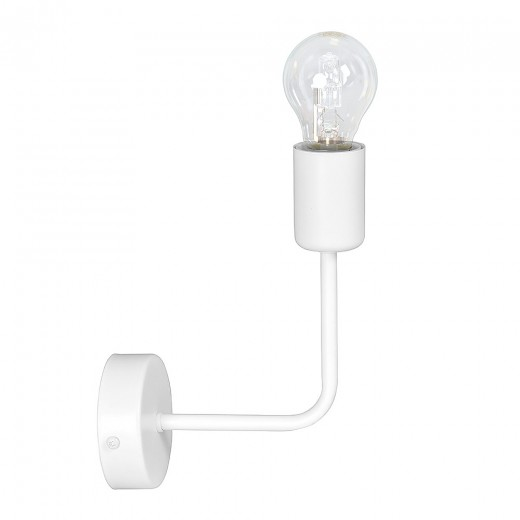 Wandlampe SIMPLEX Weiß Retro Metall E27 Flur Bett