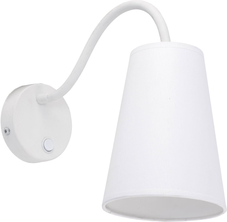 Verstellbare Wandlampe Weiß Ø13cm mit Schalter