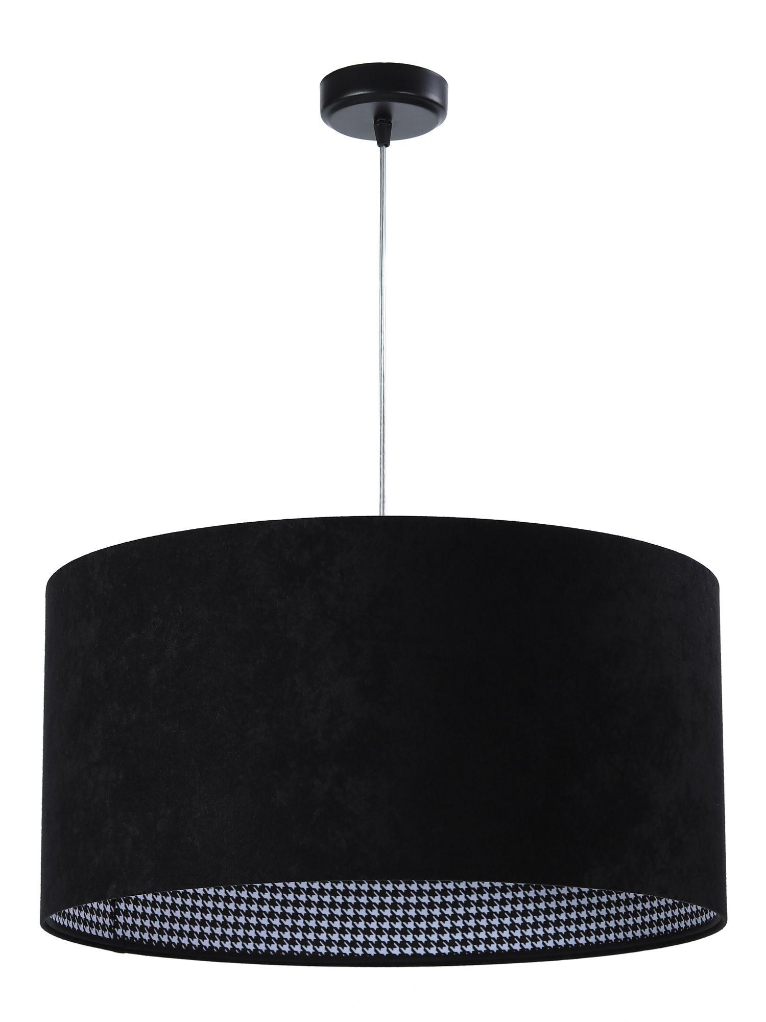 Pendelleuchte Esszimmerlampe Schwarz Weiß Muster