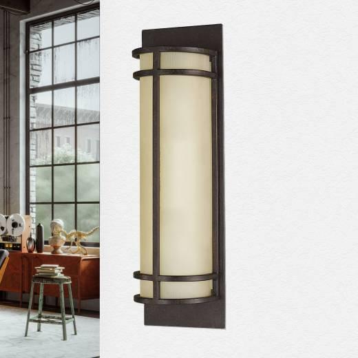 Wandlampe SHOJI Bronze Vintage Leuchte Flur Diele