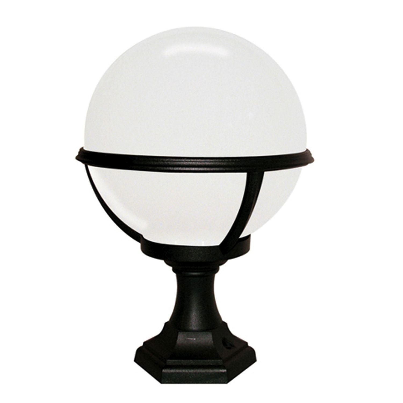 Wegbeleuchtung Schwarz Weiß Kugel Schirm H:42cm
