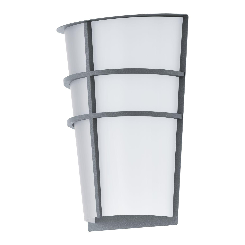 Wandleuchte LED Außen Breganzo Silber 2-Flmg