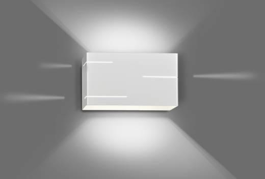 Up Down Wandlampe Weiß Metall Für Flur SQUARE