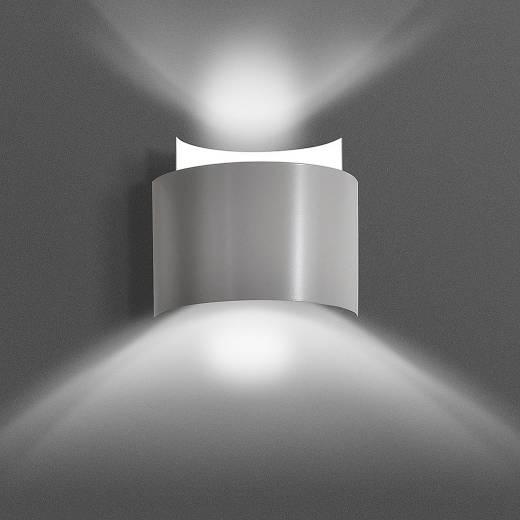 Wandleuchte Up Down Grau Metall Design Modern G9
