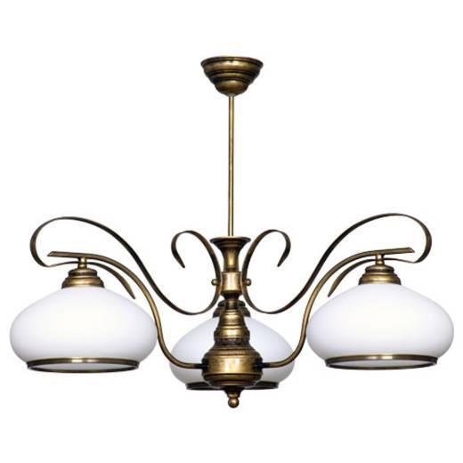 Deckenleuchte Glas Lampe Jugendstil Messing Optik