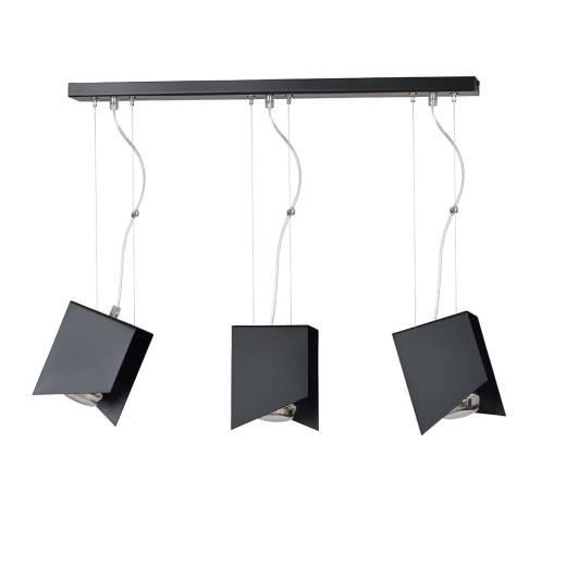 Hängeleuchte schwarz Design verstellbar 3-flammig