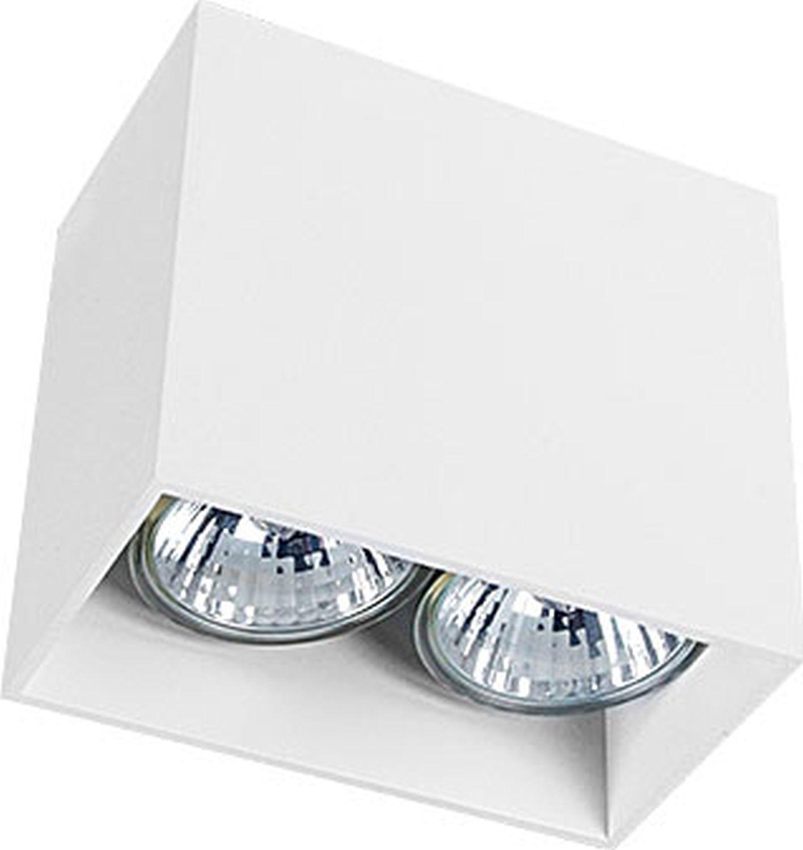 Aufbaustrahler Weiß Aluminium 2-flammig