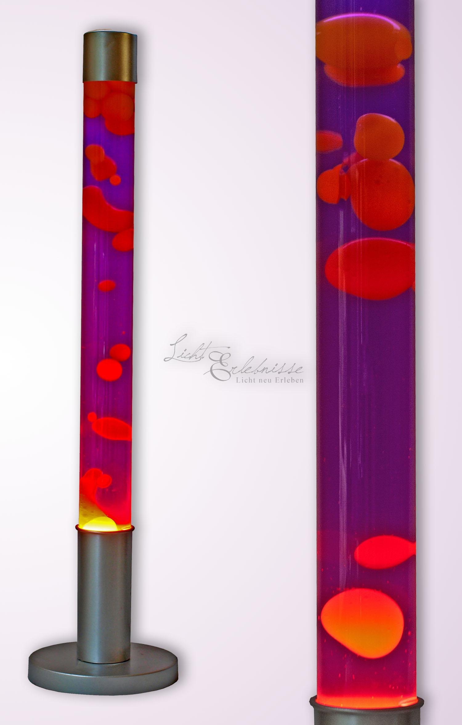 Retro Lavalampe Gelb Lila Silber 76cm hoch DOVCE
