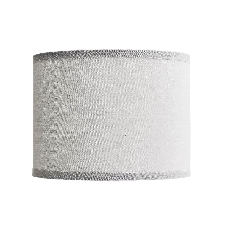 Grauer Lampenschirm Stoff für E14 Tischlampe