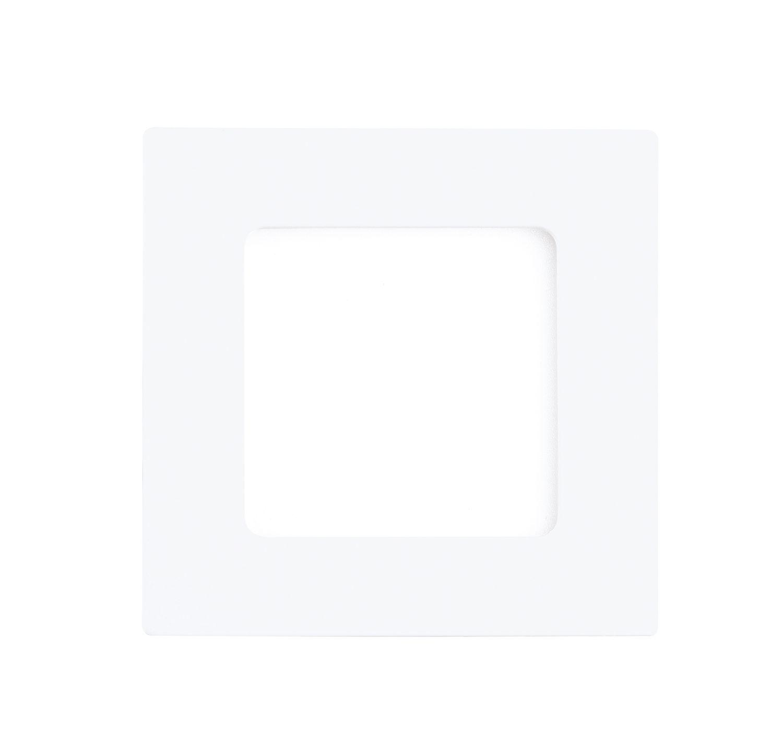 Eckiger Einbau LED Spotstrahler Fueva 1 Breit Weiß