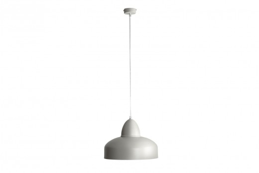 Dezente Hängelampe PIPPA Grau Ø30cm Retro Lampe