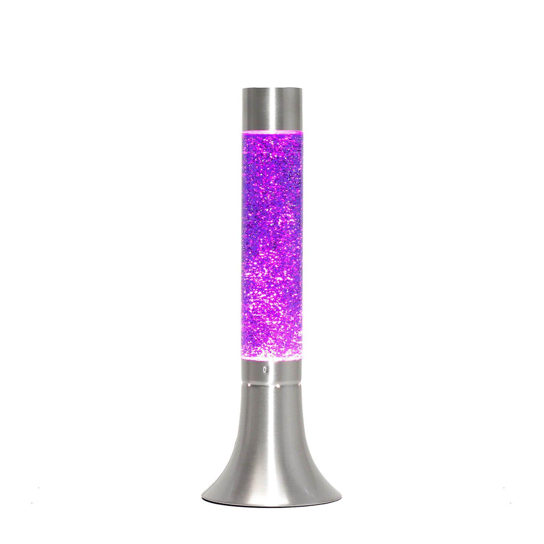 Lila Lavalampe Glitter H:38cm Retro Design YVONNE
