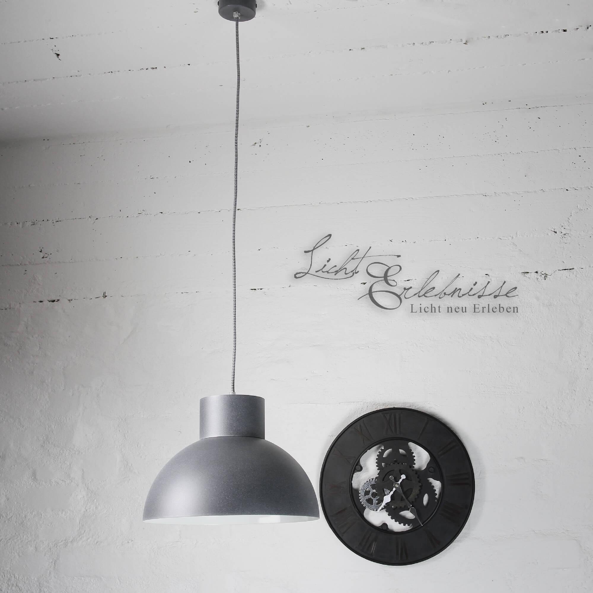 Loft Hängeleuchte Grau Metall Küche Esstisch