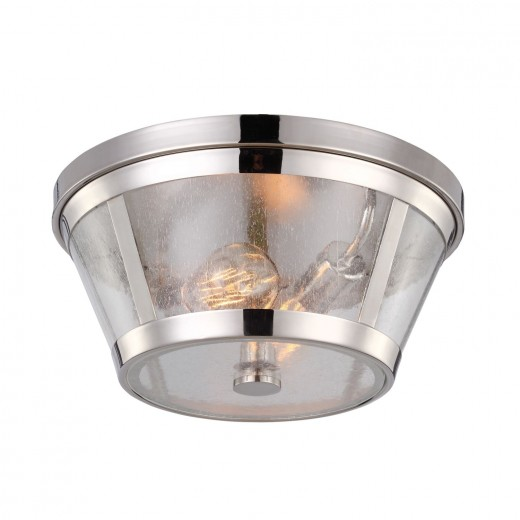 Stilvolle Deckenleuchte FLOR in Nickel Ø35cm Lampe