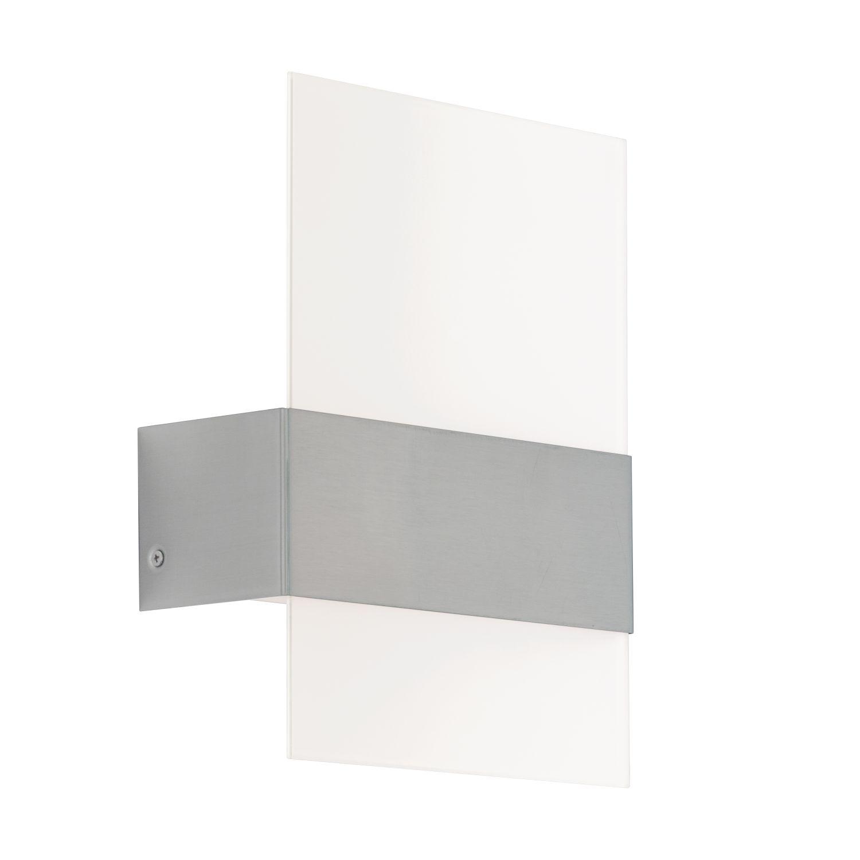 Wandleuchte LED Außen Nadela Weiß 2-Flmg
