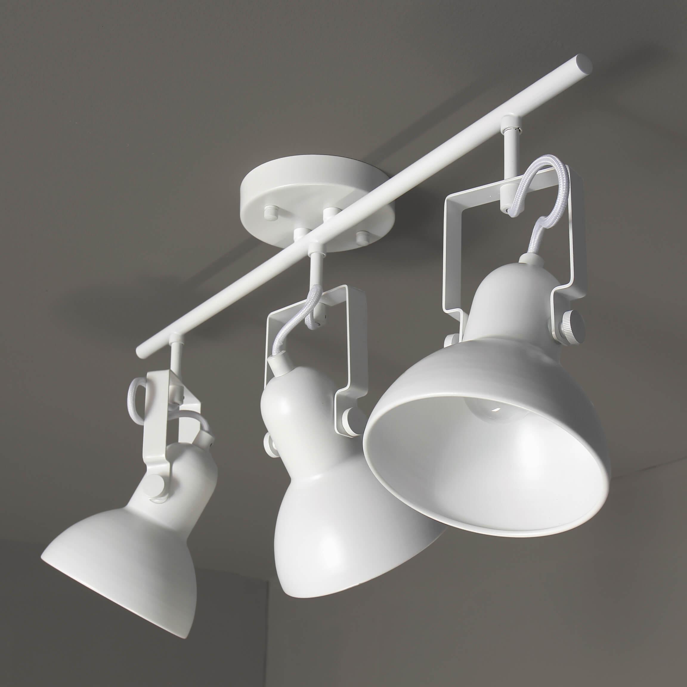 Spot Leuchte Weiß Metall 3x E14 Retro praktisch