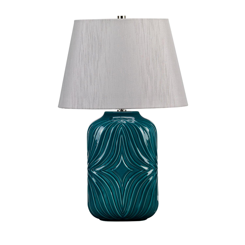 Tischlampe ALEXIS Türkis Porzellan H:56cm Leuchte