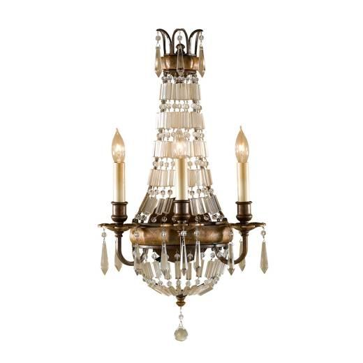 Kristall Wandleuchte Barock Design 58cm hoch NOBLES