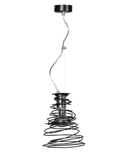 Design Hängelampe Spirale Schwarz höhenverstellbar