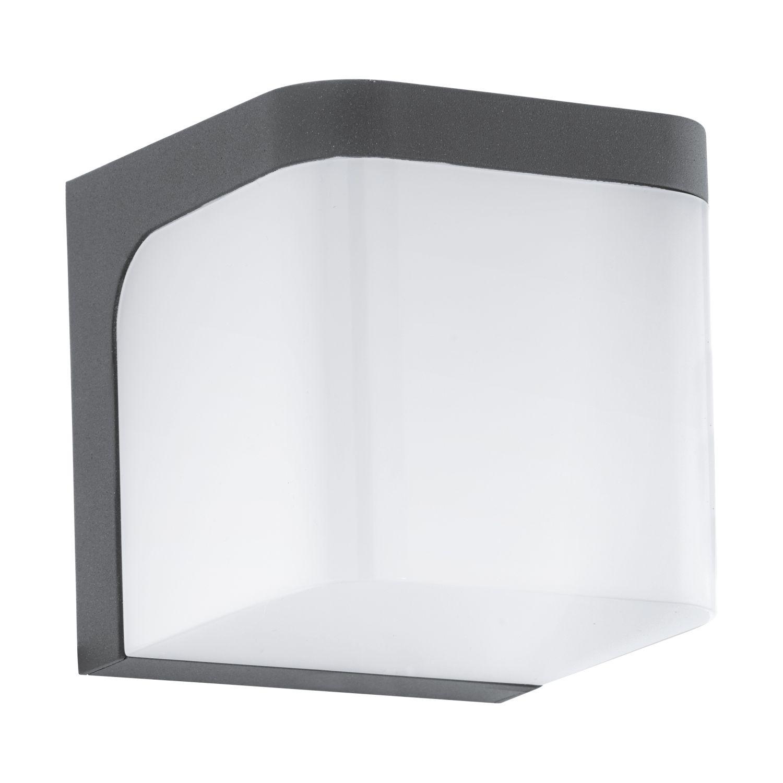 Eckige Wandleuchte LED Außen Jorba Weiß