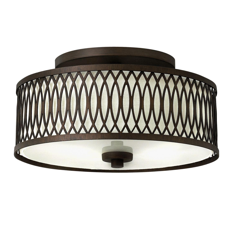 Wandlampe CIARA Creme Braun Ø33cm Vintage Leuchte
