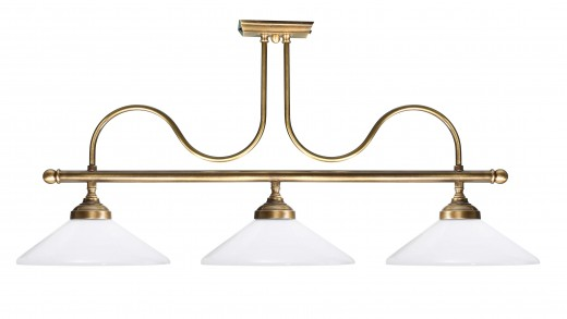 Premium Deckenlampe Jugendstil aus Echt-Messing