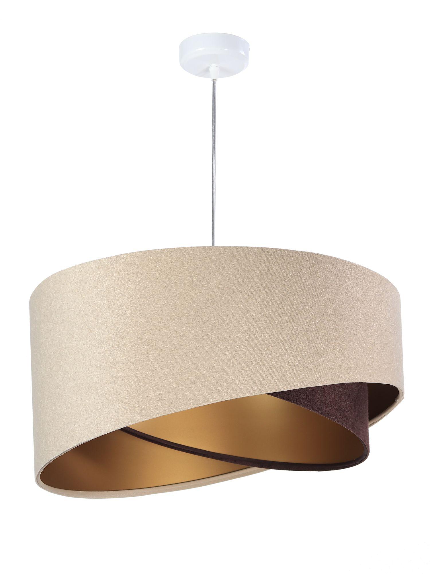 Hängeleuchte Beige Gold Braun Esstisch Lampe