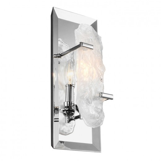 Wandleuchte LYSE Chrom Kristall Glas Design Lampe