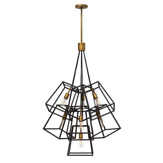 Bronze Deckenleuchte TORRE kürzbar 7-flmg Lampe