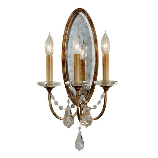 Wandlampe CANDELA 14 in Bronze Antik B:27cm Lampe