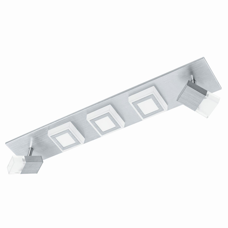 Eckiger Aufbau LED Spotstrahler Masiano Satiniert