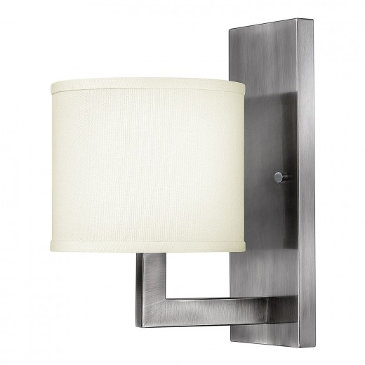 Wandlampe POLILLA in Nickel eckig Lampe Wohnzimmer
