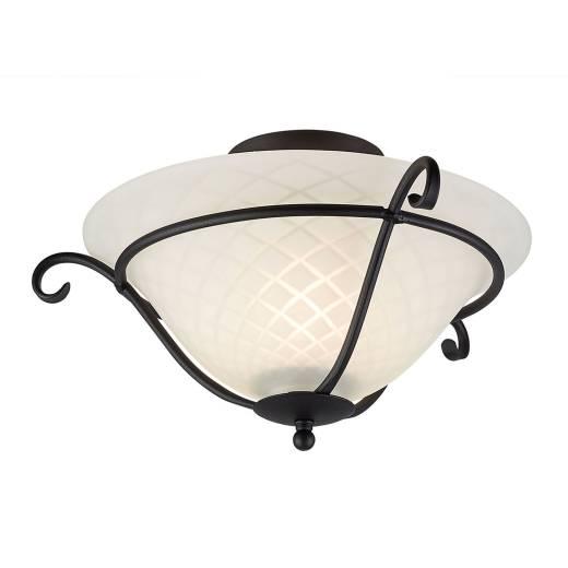 Deckenlampe AUSTEN Metall Glas Wohnzimmer Leuchte